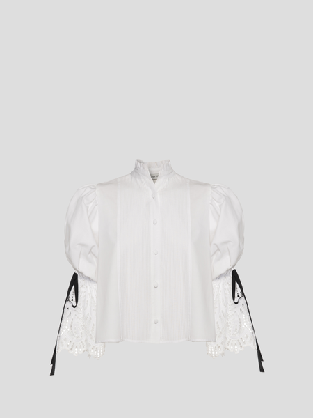 Cecilia White Puff Top