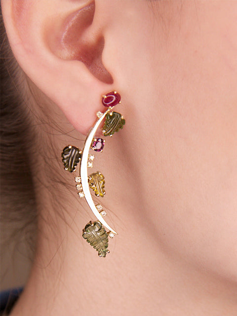 Large Fir Single Earring,Lynsh,- Fivestory New York