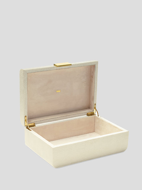 Large Modern Shagreen Jewelry Box