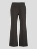 Wool Suiting Crop Flare Pants