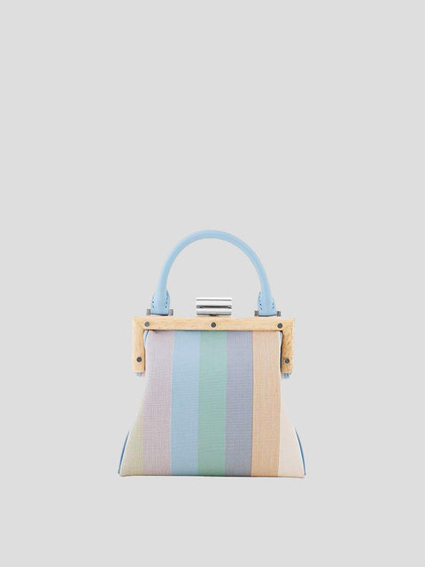 Le Midi Leather & Canvas Striped Shoulder Bag
