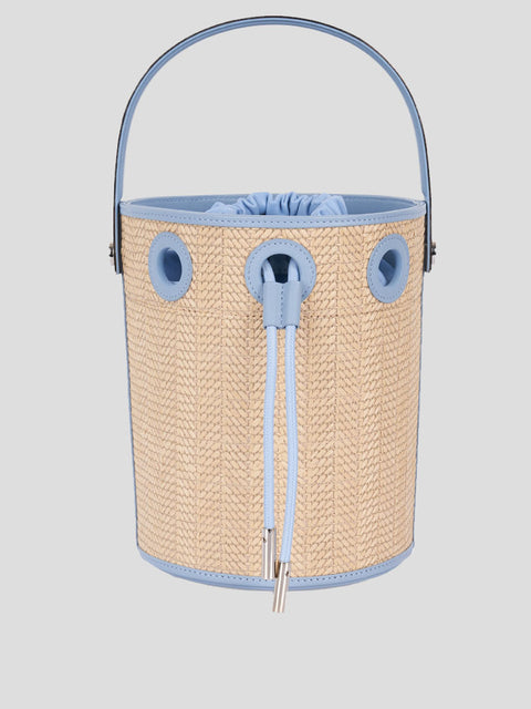 Le Seau Raffia Bucket Bag