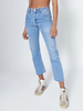 High Rise Crop Indigo Slim Fit Jean