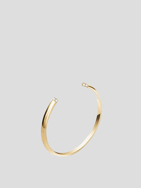 Louise 14k Yellow Gold and Diamond Cuff