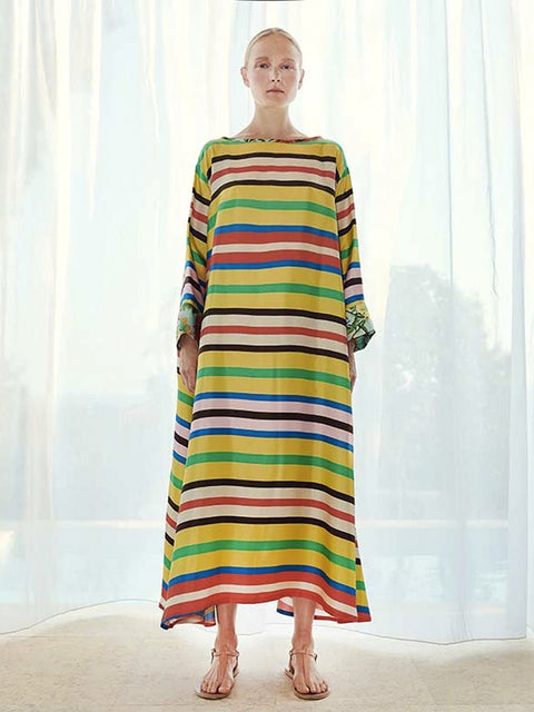 Loukoumi Kiara Kaftan Dress,Rianna + Nina,- Fivestory New York