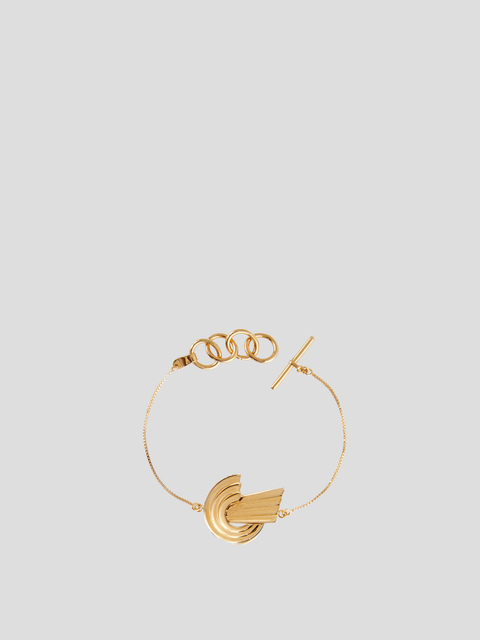 Meryl Gold-Plated Brass Thin Bracelet