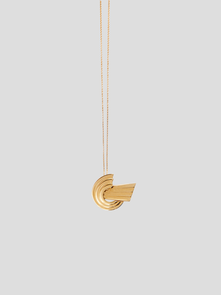 Meryl Gold-Plated Brass Mini Long Necklace