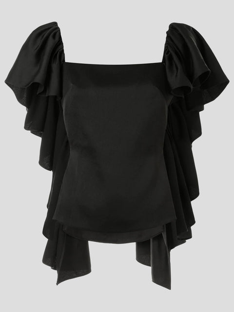 Mona Ruffle-Trim Top