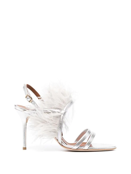 Sonia 85 Silver Feather Sandal