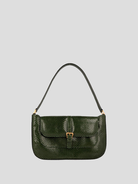 Miranda Snake Print Shoulder Bag