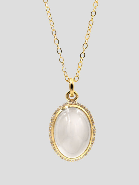 Moonstone Lollipop Pendant