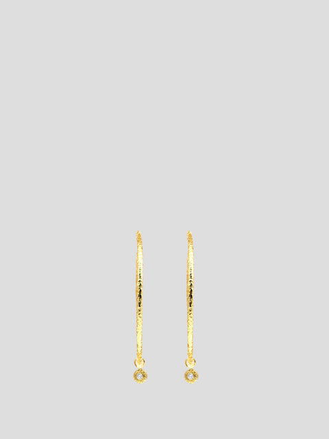 Nesting Gem Hoop Earrings