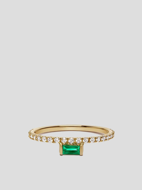 Nikita 14k Yellow Gold and Emerald Ring