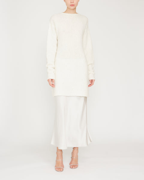 Francoise Cashmere Sweater Dress With Pearls