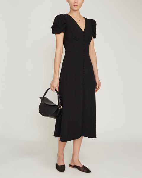 Margot  V-Neckline Midi Dress,Saloni,- Fivestory New York