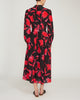 Remi Floral-Print Silk Crepe de Chine Midi Dress,Saloni,- Fivestory New York