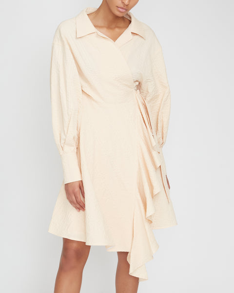 Seersucker Wrap Shirt Dress,Adeam,- Fivestory New York