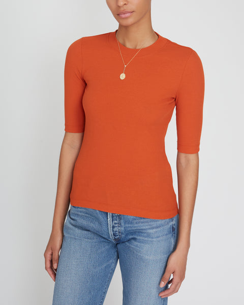 Cropped Ribbed T-Shirt,Rosetta Getty,- Fivestory New York