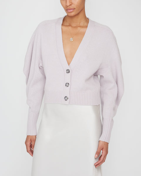 Cash Draped Sleeve Cropped Cardigan