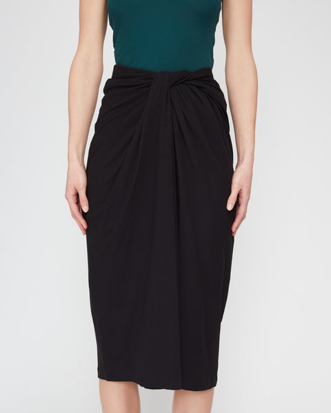 Twist-Front Midi Skirt,Rosetta Getty,- Fivestory New York