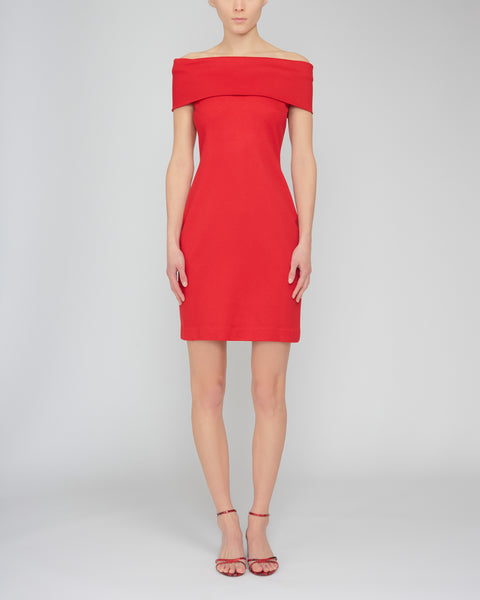 Off-The-Shoulder Stretch-Jersey Dress,Rosetta Getty,- Fivestory New York