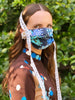 Floral Polished Mask with Lace Trim