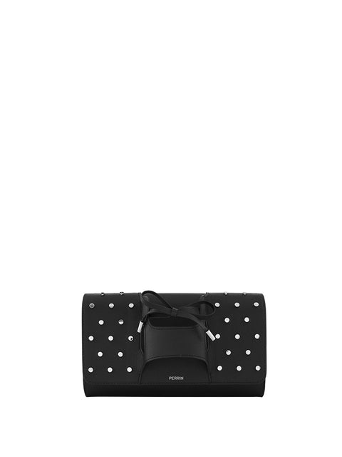 Girl Studded Leather Clutch