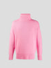No.20 Oversized Xtra Pink Cashmere Turtleneck Sweater