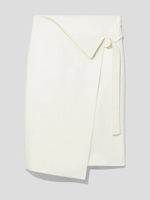 Cotton-Blend Suiting Wrap Midi Skirt,Proenza Schouler,- Fivestory New York