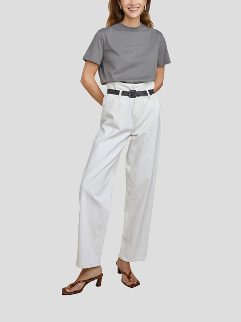 Dawn White Pant with Belt