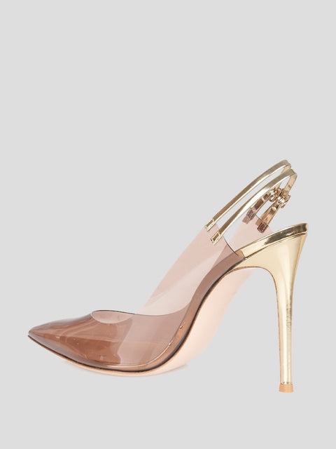Plexi Point-Toe Pump