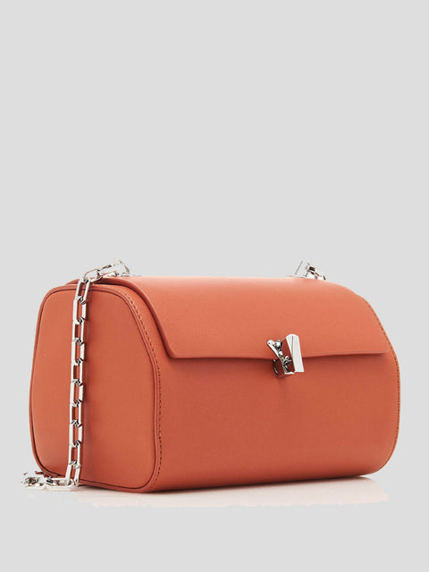 Po Leather Mini Trunk Shoulder Bag