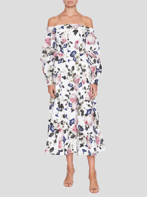 Pollina Apsley Off the Shoulder Midi Dress