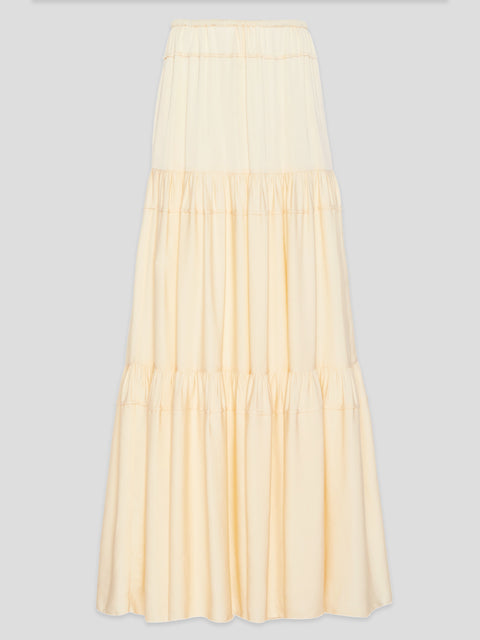 Tiered Ruffle Maxi Skirt,Rosetta Getty,- Fivestory New York