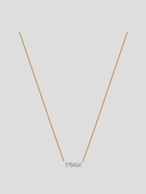 Rhea 14k Yellow Gold and Diamond Necklace