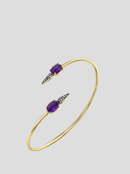 Pave Spear Twist Shirley Bangle,Sarah Hendler,- Fivestory New York