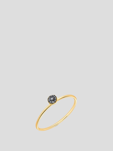 Single Pave Ball Stacking Ring,Sarah Hendler,- Fivestory New York