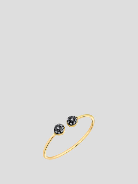 Double Pave Ball Stacking Ring,Sarah Hendler,- Fivestory New York