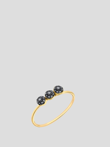 Triple Pave Ball Stacking Ring,Sarah Hendler,- Fivestory New York