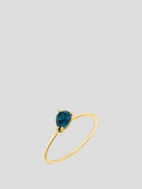 Mini Pear Blue Topaz Stacking Ring,Sarah Hendler,- Fivestory New York