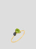 Mini Pear & Pave Ball Stacking Ring,Sarah Hendler,- Fivestory New York