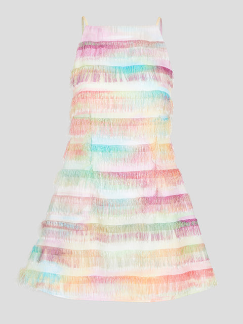 Shannon Tie-Dye Fringe Mini Dress
