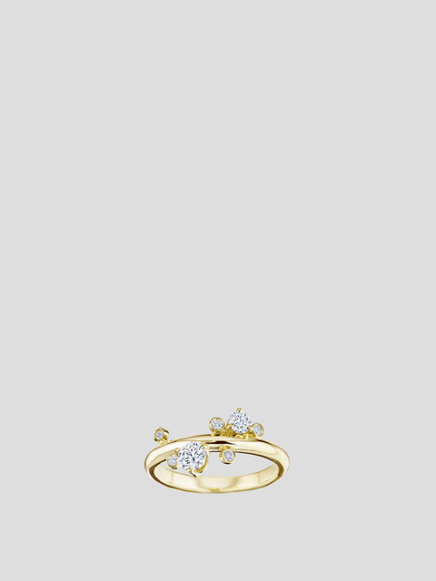 14k Gold Showstopper Diamond Ring