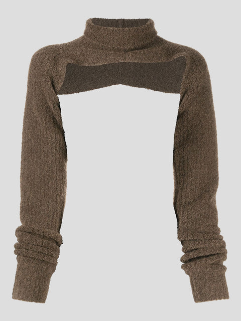 Oversized Bouclé Knit Shrug