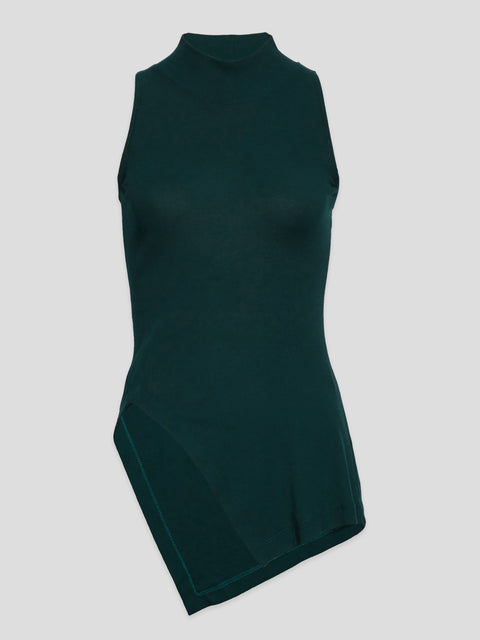 Paneled Turtleneck Tank Top,Rosetta Getty,- Fivestory New York