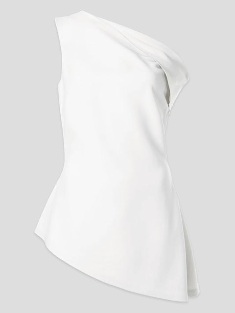 Fold Shoulder Top,Rosetta Getty,- Fivestory New York
