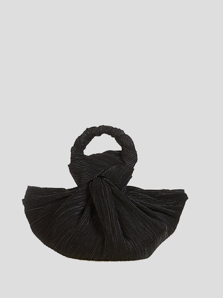 Tulay Pleated Top Handle Bag