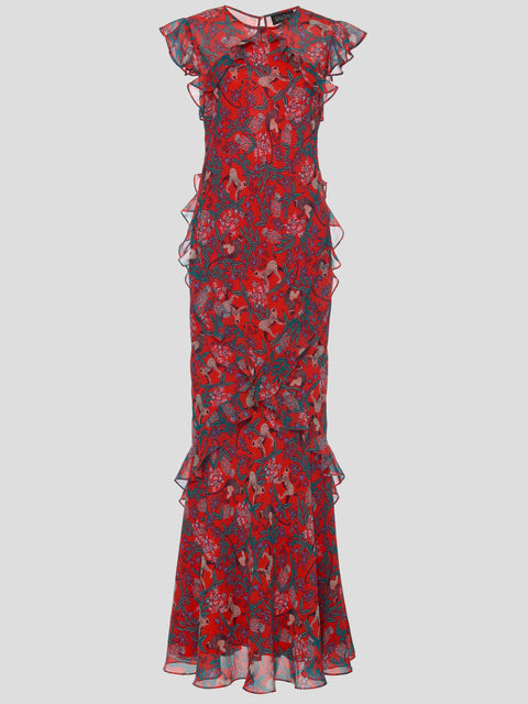 Tamara Ruffle Maxi Dress,Saloni,- Fivestory New York