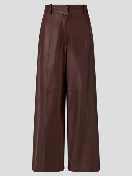 Tuba Cropped Wideleg Leather