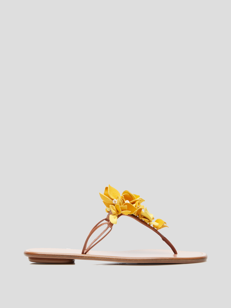 Bougainville Yellow Floral Thong